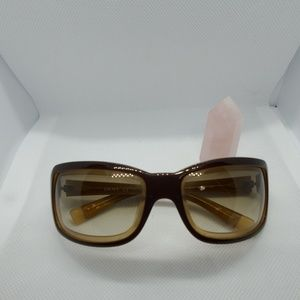 DKNY brown and tan sunglasses
